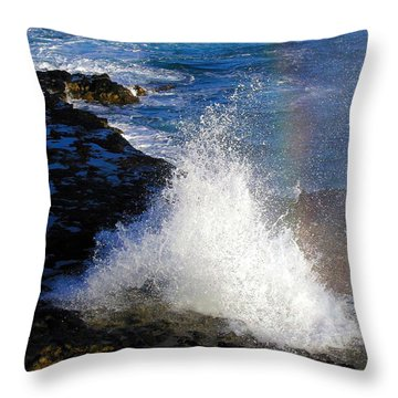 Hawaiian Rainbow Throw Pillow
