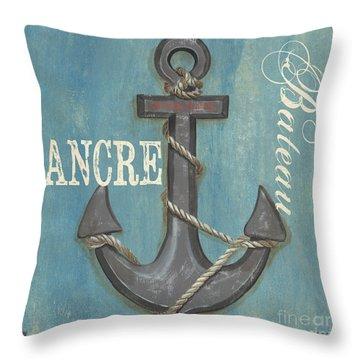 La Mer Ancre Throw Pillow