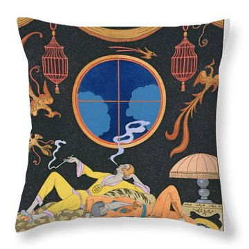 La Paresse Throw Pillow by Georges Barbier