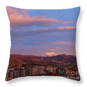La Paz Twilight Throw Pillow by James Brunker