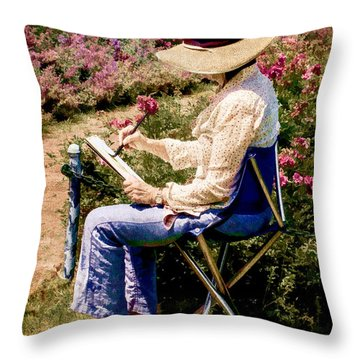 Throw Pillow featuring the photograph La Peintre by Chris Lord