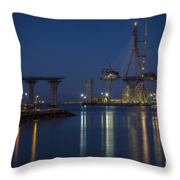 La Pepa Bridge Cadiz Spain Throw Pillow