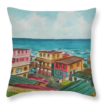 La Perla San Juan Pr Throw Pillow by Frank Hunter