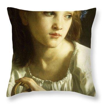 La Petite Ophelie Throw Pillow by William Adolphe Bouguereau