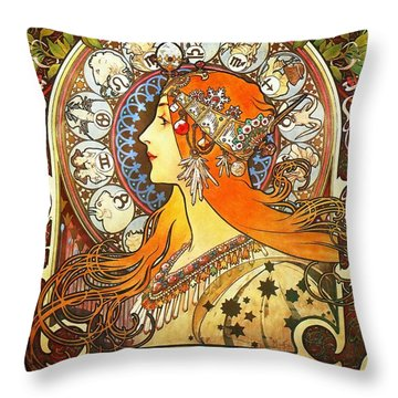 La Plume Zodiac Throw Pillow