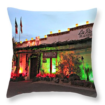 Throw Pillow featuring the photograph La Posta De Mesilla New Mexico by Barbara Chichester