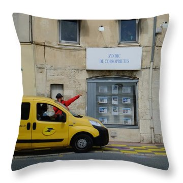 La Poste France Throw Pillow