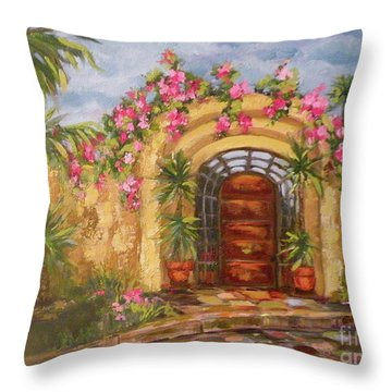 La Punta Villa Throw Pillow