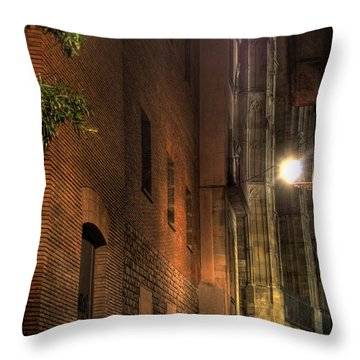 Throw Pillow featuring the photograph La Rambla by Erhan OZBIYIK