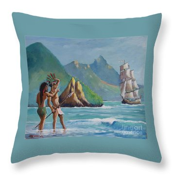 La Rencontre De Deux Mondes Throw Pillow