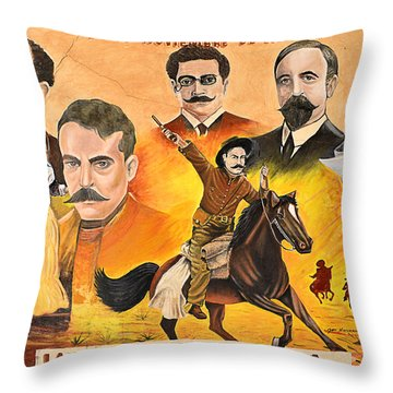 La Revolution Mexicana Throw Pillow