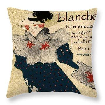 La Revue Blanche Throw Pillow