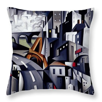 La Rive Gauche Throw Pillow by Catherine Abel