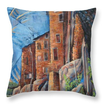 La Rocca Citta Lg Italy Throw Pillow