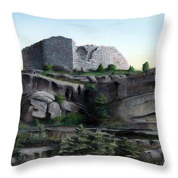 La Rocca De Monte Calvo Throw Pillow
