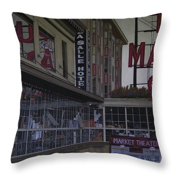 La Salle Hotel Throw Pillow by Thu Nguyen