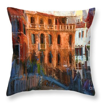 Throw Pillow featuring the photograph La Serenissima by Jack Torcello