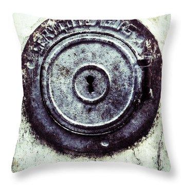 Throw Pillow featuring the photograph La Serrure by Selke Boris