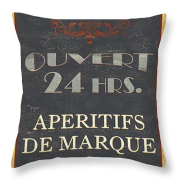La Soupe Du Jour Throw Pillow by Debbie DeWitt