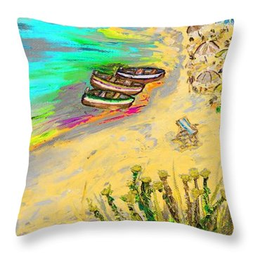 La Spiaggia Throw Pillow