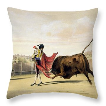 La Suerte De La Capa, 1865 Throw Pillow