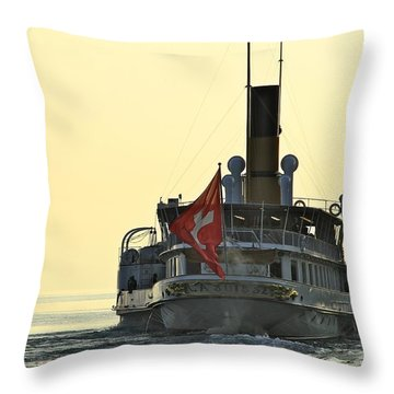 Throw Pillow featuring the photograph La Suisse by Colleen Williams