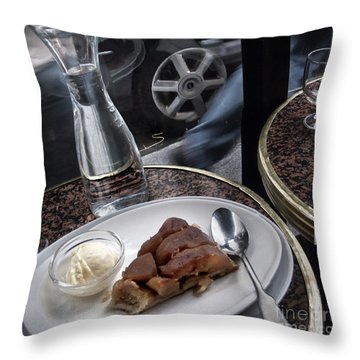 Throw Pillow featuring the photograph La Tarte A Grande Vitesse. by Michel Verhoef