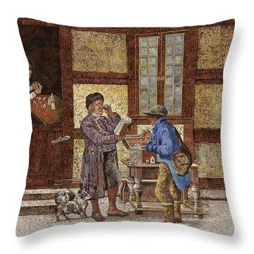 La Vendita Degli Occhiali Throw Pillow by Guido Borelli