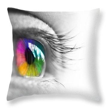 La Vie En Couleurs Throw Pillow