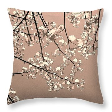 La Vie En Rose Throw Pillow by Jacqueline McReynolds