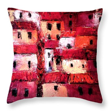 La Vieille Ville Throw Pillow