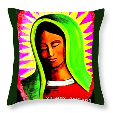 Throw Pillow featuring the painting Tonantzin by Michelle Dallocchio