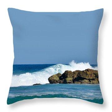 Labadee Haiti Ocean Waves Throw Pillow