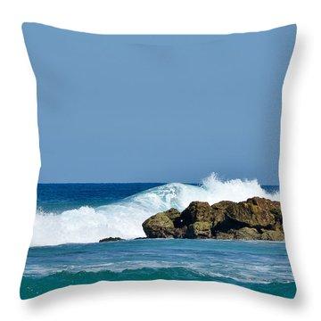 Labadee Ocean Waves Haiti Throw Pillow