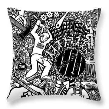 Labor Daze Throw Pillow