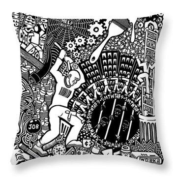 Labor Daze Throw Pillow by Matthew Ridgway