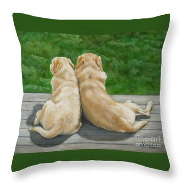 Labrador Lazy Afternoon Throw Pillow