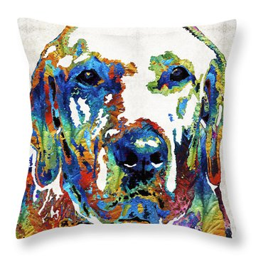 Labrador Retriever Art - Play With Me - By Sharon Cummings Throw Pillow