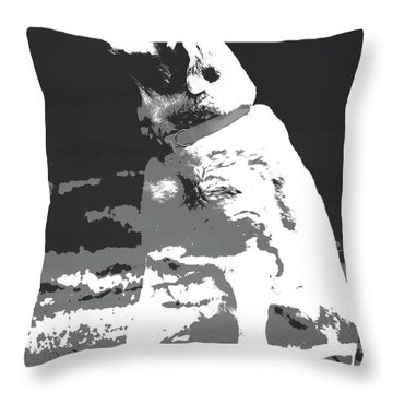 Labrador Smell The Air Throw Pillow by Terry DeLuco