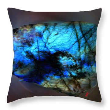 Throw Pillow featuring the photograph Labrodit Beauty by Colette V Hera  Guggenheim