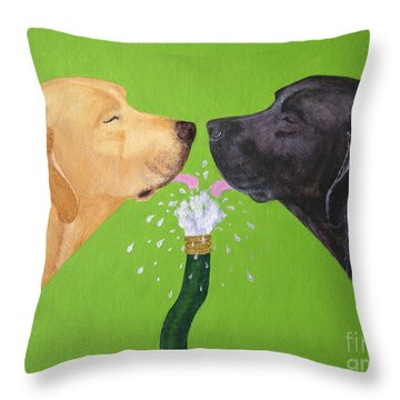 Labs Like To Share 2 Throw Pillow