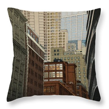 Throw Pillow featuring the drawing Labyrinth by Meg Shearer