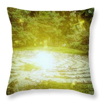 Labyrinth Myth And Mystical Throw Pillow