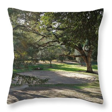 Labyrinth Retreat Throw Pillow by Michele Myers