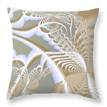 Lace Throw Pillow by Anastasiya Malakhova