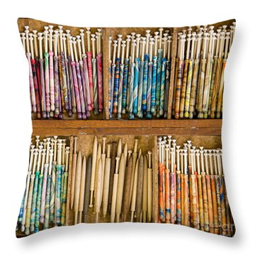 Lace Bobbins Throw Pillow
