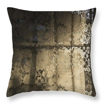 Lace Curtain 1 Throw Pillow