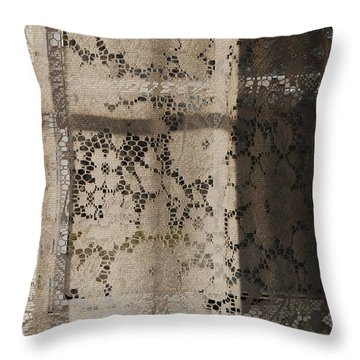 Lace Curtain 2 Throw Pillow