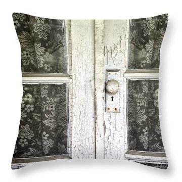 Lace Curtains Throw Pillow by Margie Hurwich