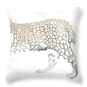 Throw Pillow featuring the digital art Lace Leopard by Stephanie Grant